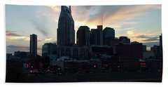 Nashville Sunset Hand Towel by Nick Kirby