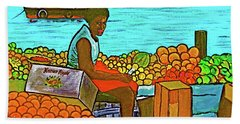 Nassau Fruit Seller At Waterside Bath Towel
