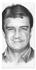 Nathan Fillion Bath Towel