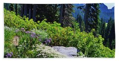 National Park Wildflowers Bath Towel by Ansel Price