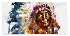 Native American Chief Hand Towel