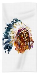 Native American Chief Bath Towel