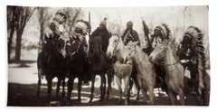 Native American Chiefs - To License For Professional Use Visit Granger.com Hand Towel