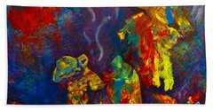Native American Fire Spirits Bath Towel by Claire Bull