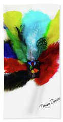 Native American Tribal Feathers Bath Towel