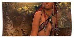 Native American Woman... Abedabun Bath Towel