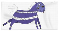 Native Horsey Hand Towel by Shelley Overton