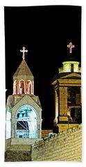 Nativity Church Lights Bath Towel