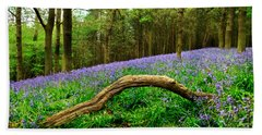 Natural Arch And Bluebells Bath Towel