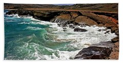 Bath Towel featuring the photograph Natural Bridge Aruba by Suzanne Stout
