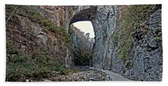 Bath Towel featuring the photograph Natural Bridge Virginia by Suzanne Stout