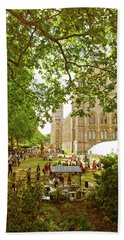 Hand Towel featuring the photograph Natural History Museum Summertime by Anne Kotan
