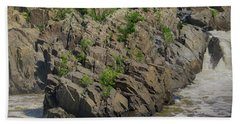 Nature Blooming From The Rocks Hand Towel
