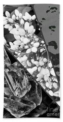 Nature Collage In Black And White Bath Towel