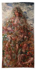 Nature Or Abundance Bath Towel by Leon Frederic