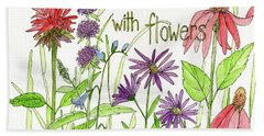 Nature Smile With Flowers Hand Towel