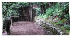 Hand Towel featuring the photograph Nature Trail by Cathy Harper