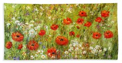 Nature Walk Hand Towel by Valerie Travers