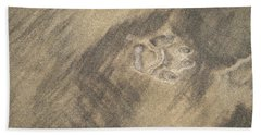Natures Amazing Abstracts - Solitary Paw Print Left Behind Bath Towel