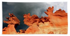 Hand Towel featuring the photograph Nature's Artistry Nevada by Bob Christopher