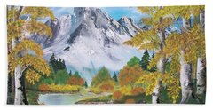Bath Towel featuring the painting Nature's Beauty by Sharon Duguay