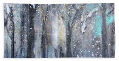 Hand Towel featuring the painting Nature's Cathedral by Robin Maria Pedrero