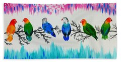 Nature's Jewels Hand Towel by Cathy Jacobs