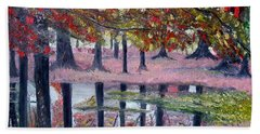 Natures Painting Hand Towel