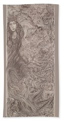 Nature's Song Bath Towel by Rita Fetisov