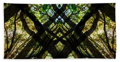 Natures Stain Glass Bath Towel