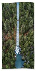 Natures Waterslide  Hand Towel