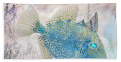 Hand Towel featuring the photograph Nautical Beach And Fish #2 by Debra and Dave Vanderlaan