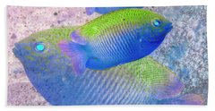 Hand Towel featuring the photograph Nautical Beach And Fish #3 by Debra and Dave Vanderlaan