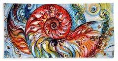 Nautilus Shell - Ocean Hand Towel