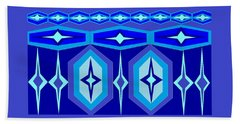Navajo 7 Bath Towel by Linda Velasquez