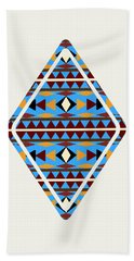 Navajo Blue Pattern Art Bath Towel