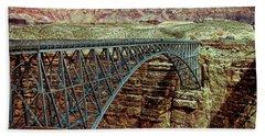 Navajo Bridge Hand Towel by Anthony Dezenzio