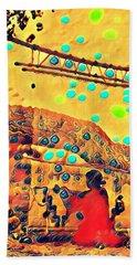 Navajo Woman Weaving 1 Hand Towel