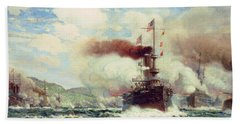 Naval Battle Explosion Bath Towel