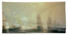Naval Battle In Chesapeake Bay Bath Towel