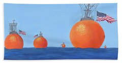 Naval Oranges Bath Towel