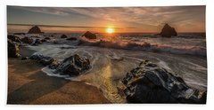 Navarro Beach Seascape Bath Towel