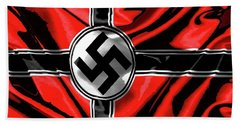 Nazi Flag Color Added 2016 Bath Towel