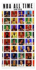 Nba All Times Hand Towel by Semih Yurdabak