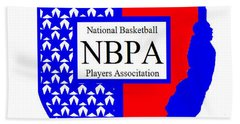 Bath Towel featuring the digital art Nbpa Logo Redesign Sample by Tamir Barkan