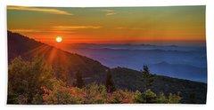 Nc Mountain Sunrise Blue Ridge Mountains Hand Towel