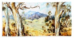 Hand Towel featuring the painting Near Avoca by Ryn Shell
