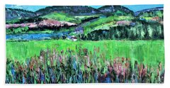 Bath Towel featuring the painting Near Cooperstown by Betty Pieper
