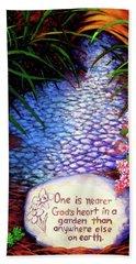Garden Wisdom, Nearer Bath Towel by Jeanette Jarmon
