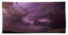 Nebraska Night Thunderstorm Beast 001 Bath Towel
